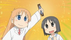 Hakase and her Snickers bar from Nichijou