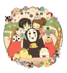 Fan art of Spirited Away in Crayon Shin-chan style