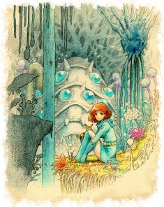 Nausicaä of the Valley of the Wind fan art 風の谷のナウシカ