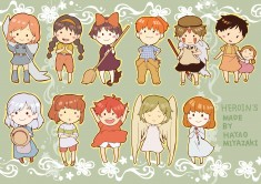 The heroines of Hayao Miyazaki