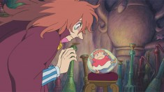 A scene from the Hayao Miyazaki film Ponyo 崖の上のポニョ