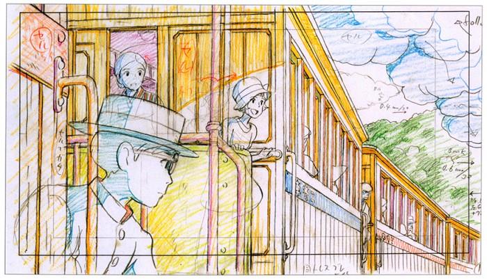 Animation layouts from Hayao Miyazaki's The Wind Rises (風立ちぬ)