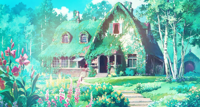 Background art from Hayao Miyazaki's 1989 film Kiki's Delivery Service 魔女の宅急便