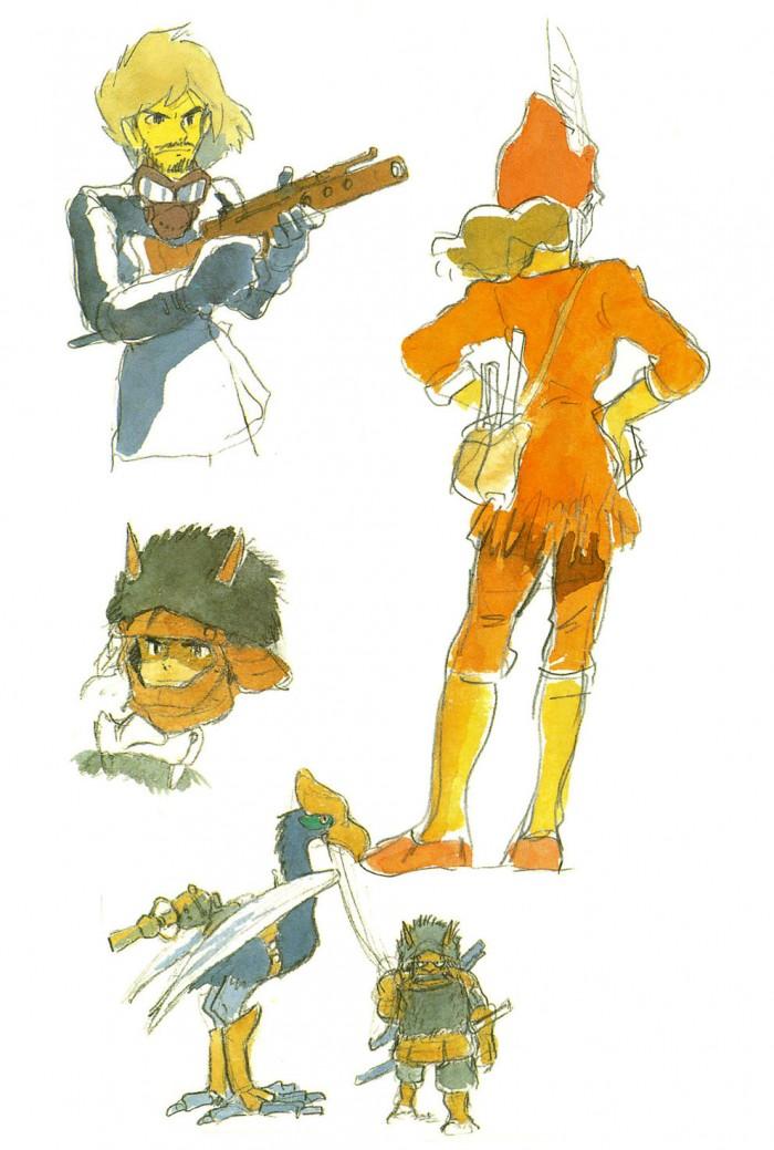 Nausicaä character design sketch