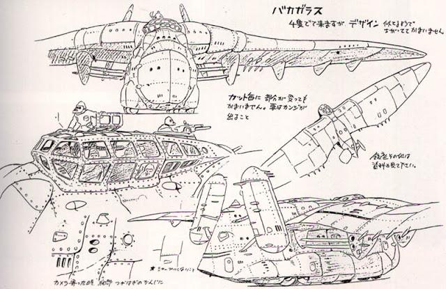Nausicaä mecha preproduction drawing