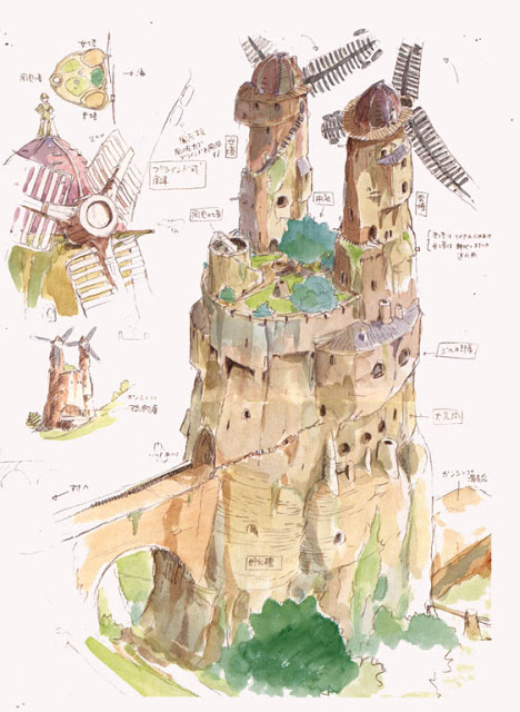 Nausicaä preproduction drawing