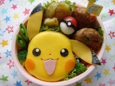 Pikachu Pokémon bento box this was originally sent by Curator-chan but I liked it so much I disi ...