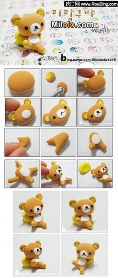 DIY polymer clay rilakkuma tutorial