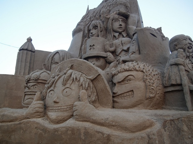 Amazing Japanese anime sand sculptures: One Piece
