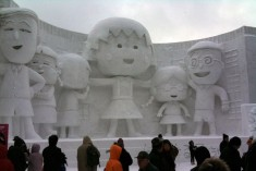 An Annual Blizzard of Public Snow Sculpture Hits Sapporo