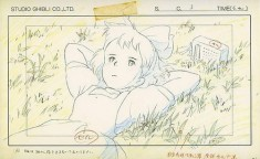 animation layout art for Hayao Miyazaki's 1989 film Kiki's Delivery Service 魔女の宅急便