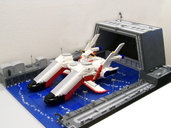 Lego Archangel: The main battleship from anime Gundam Seed.