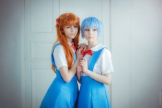 cosplay: Asuka and Rei cosplay by Kawaielli on DeviantArt