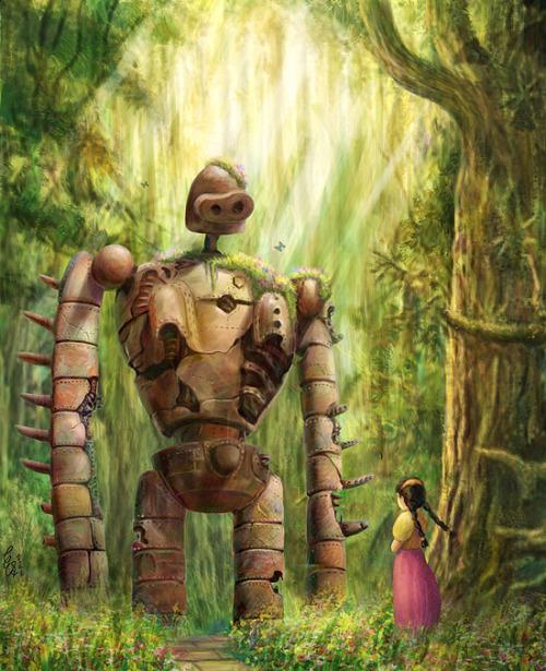 古怪KoKai actually has quite a few Ghibli pieces up on pixiv but this Laputa one is definitely m ...