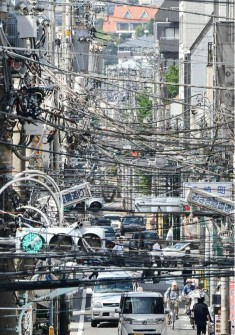 Chaotic Photographs of Electric Cables Suspended Over Japanese Streets  | Spoon & Tamago