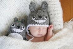 Crochet Totoro Hat Newborn by AmiAmigos on Etsy