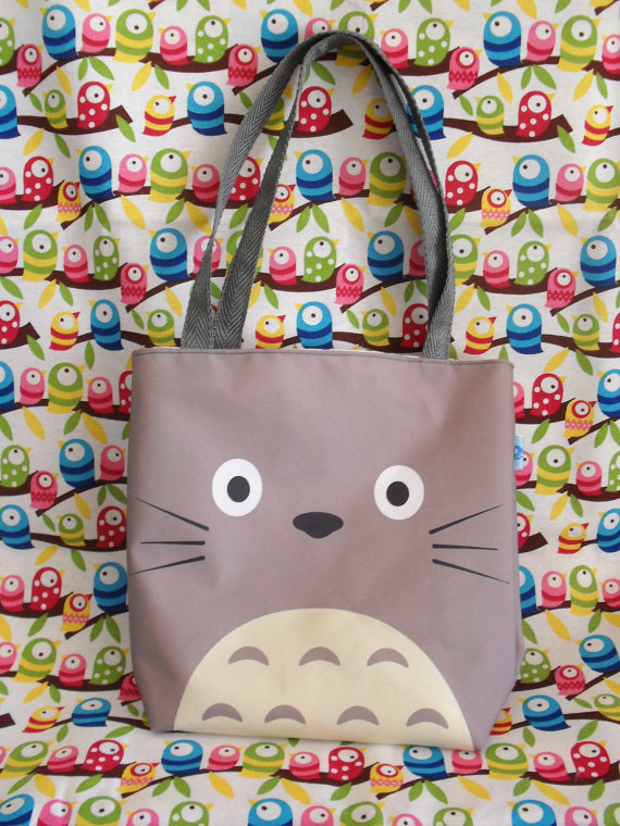Cute Tonari no Totoro Mini Tote Bag Anime Studio by MyMoemoe