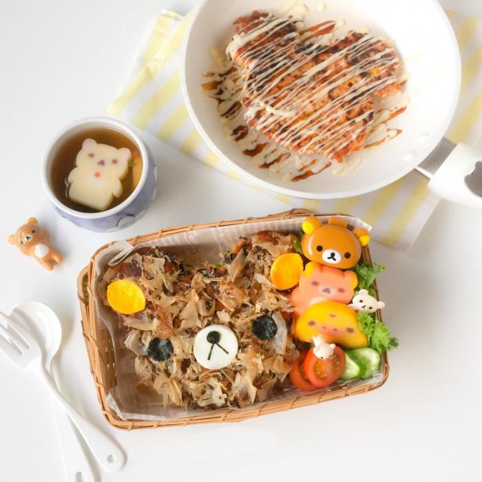 Rilakkuma Okonomiyaki Bento