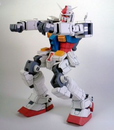 Detailed Poseable RX-78-2 Gundam Ver.Kimchulho Free Papercraft Download
