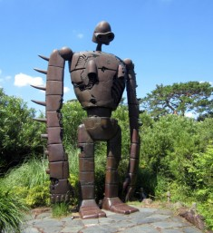 "The Studio Ghibli Museum in Mitaka: ""From the terrace off the Cat Bus Room, a spiral stair ..."