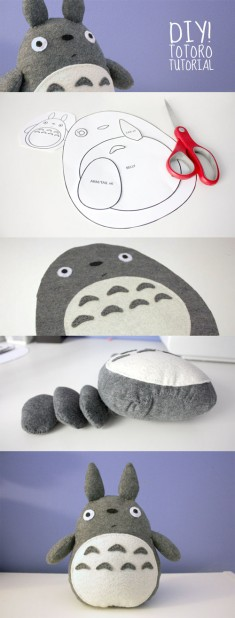DIY Totoro Plush Tutorial: Full details here: http://cheekandstitch.com/diy-totoro-plush-tutorial/
