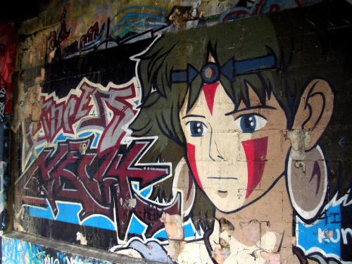 Princess Mononoke street art もののけ姫