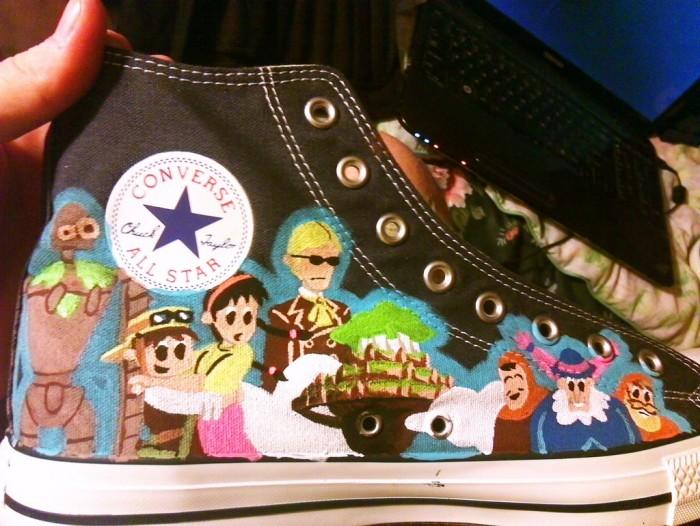 Fan art: Ghibli Sneakers! Laputa by clmcmillion