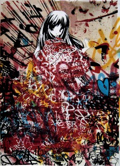 Graffiti by Hush: Doe-eyed Anime Girls