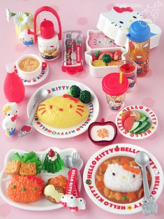Hello Kitty yummy food miniatures