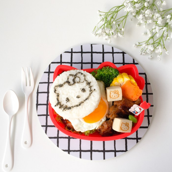 Hello Kitty Rice Burger Bento