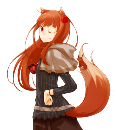Horo render by LightAngelFaye – Spice & Wolf fan art 狼と香辛料