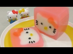 How to Make 'Hello Kitty Pudding'  – YouTube Video