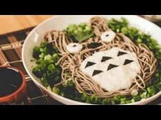 How to Make Totoro Soba (トトロとろろ蕎麦の作り方) – YouTube