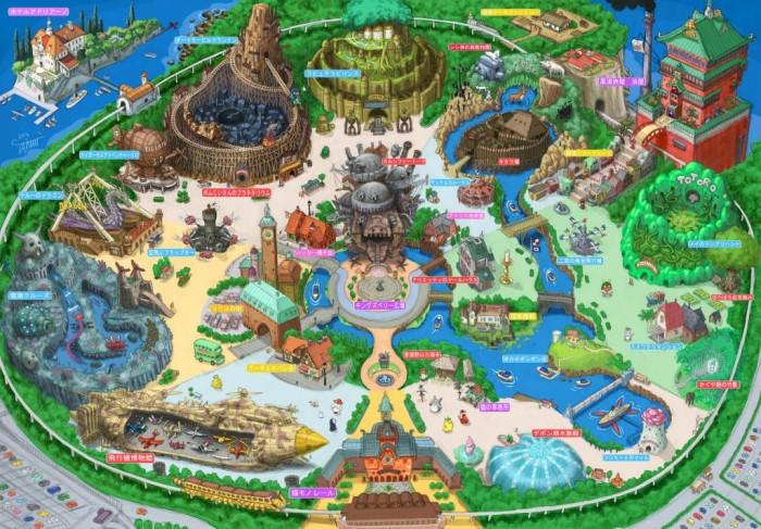 Hypothetical Tokyo Ghibli Land Created by Japanese Illustrator TAKUMI   Spoon & Tamago