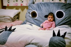 I love my BIG Totoro bed! ♥ ♥ ♥ ♥ ♥