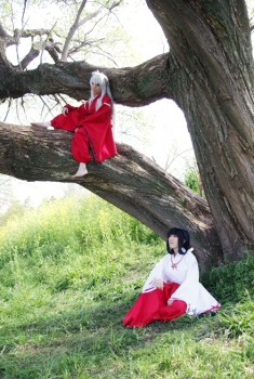 Inuyasha and kikyo cosplay by Maho-Urei on DeviantArt