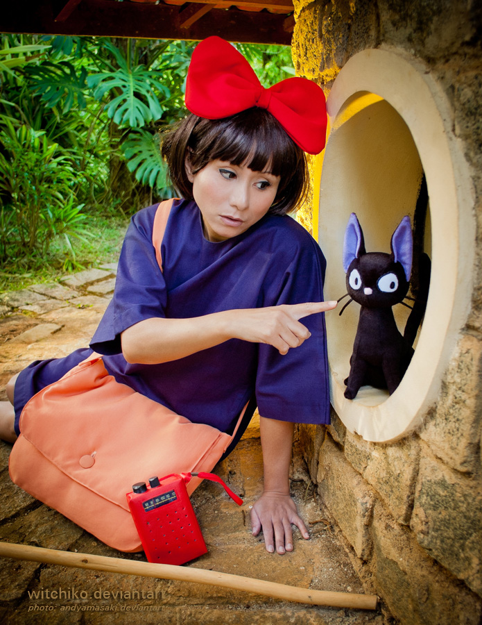 Jiji…you're so cute Kiki's Delivery Service 魔女の宅急便 cosplay by Witchiko