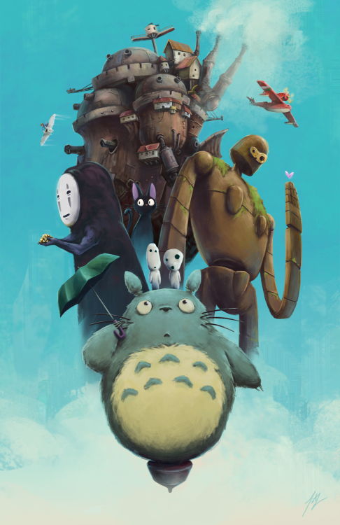 Tribute to the all the wonderful films from Studio Ghibli by Titus Lau