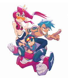 gurren lagann fan art by Justin Chan