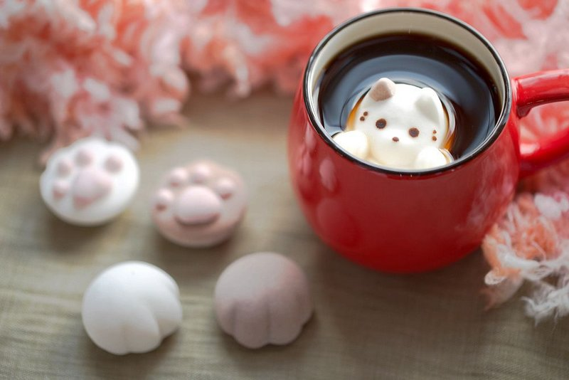 Marshmallows That Look Like Cats in Hot Chocolate | Spoon & Tamago