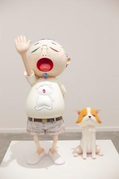 a Takashi Murakami sculpture