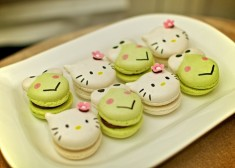 Hello Kitty and Keroppi macarons
