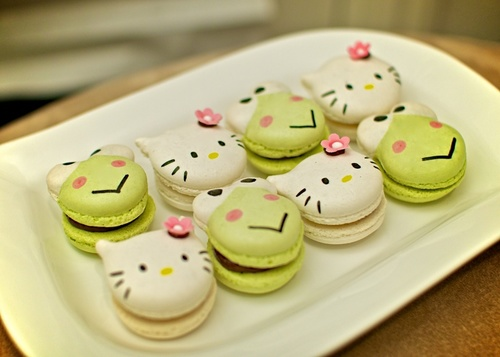Hello Kitty and Keroppi macarons