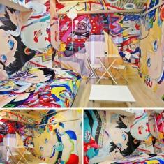 Tokyo Airbnb rental decorated by Japanese artist Hiroyuki Takahashi!