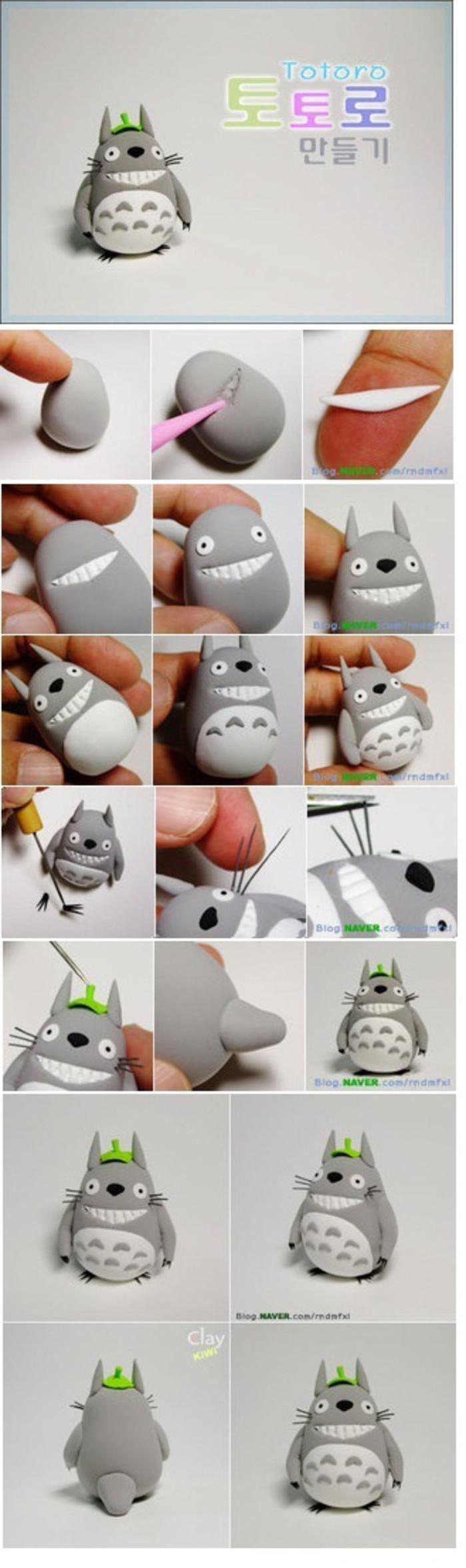 Totoro DIY clay project