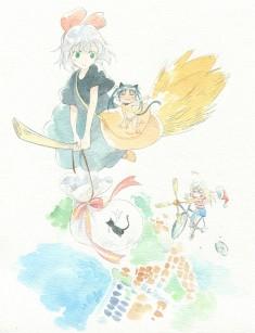 Kiki's Delivery Service fan art – ルッキーニおめでクリスマス! やっちまったよ、ハツ ...