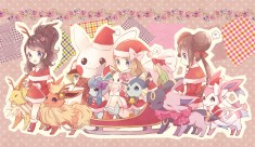 Pokémon Christmas themed fan art from Japan