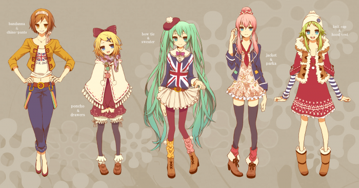 Hatsune Miku fan art from japan – VOCALOID 秋冬コーディネート