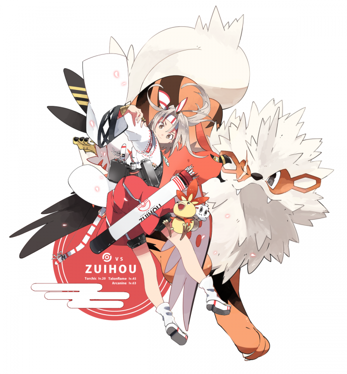 VS. Light Carrier Zuihou / Torchic / Talonflame / Arcanine VS 瑞鳳 | kannnu