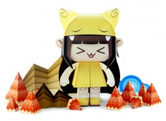 Papertoy 'Teresha' by Salazad  | Papertoys, Papercraft & Paper Arts